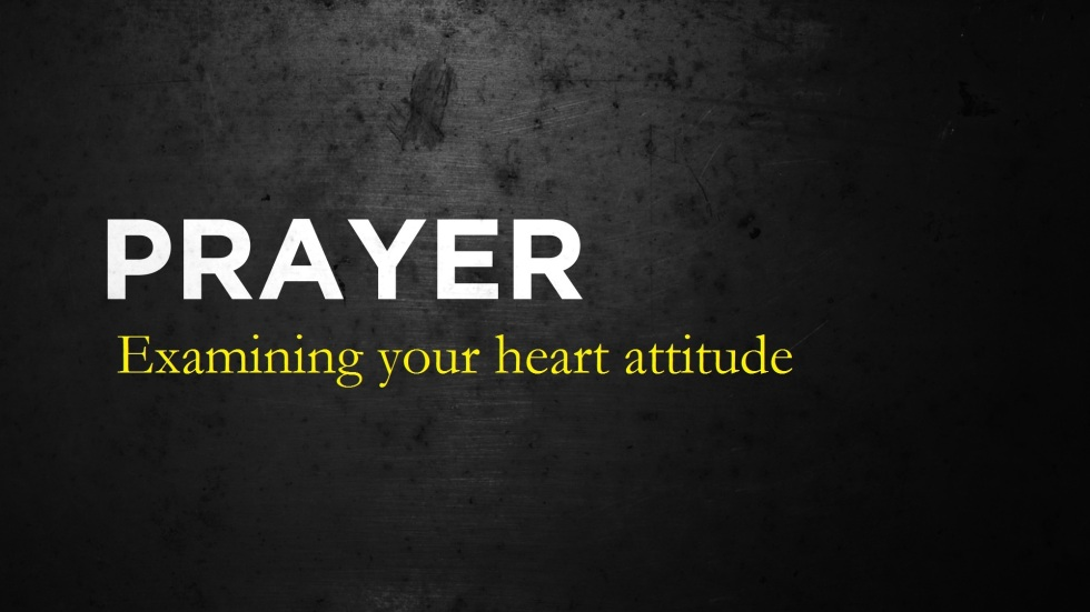 Examining your heart attitude